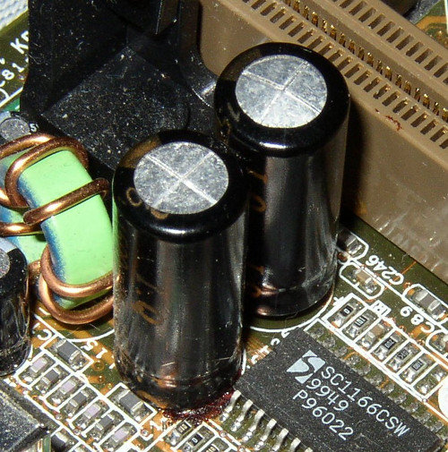 Another bulging capacitor