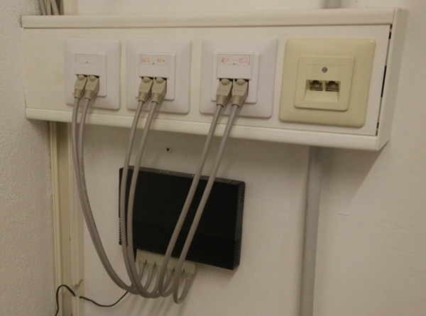 Using newly made network cables